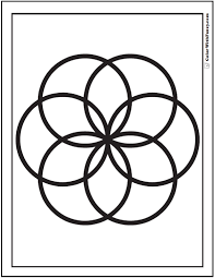 Small Picture Venn Geometric Coloring Pages
