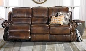 Dual furniture Modern Era Nouveau Topgrain Leather Sofa With Dual Power Recliners In Classic Brown Afc Industries Era Nouveau Topgrain Dual Power Reclining Sofa Haynes Furniture