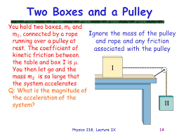Two Boxes and a Pulley