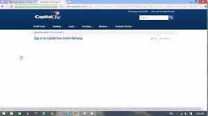 Capital One Credit Card Login Capital One Credit Card Sign In