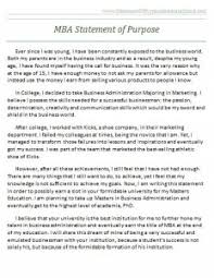 Mba Statement Of Purpose Sample X How To Write A Statement Of