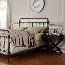 iron bed furniture. Antique Finish Dark Bronze Queen-Size Metal Bed. This Victorian Brass Bed Style Frame Has A Vintage Iron Look Perfect For Any Bedroom Furniture Style.