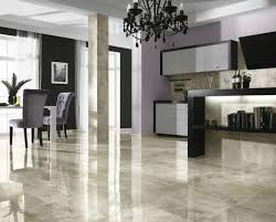 Marble Kitchen Flooring Glossy Marble Ceramic Tile Floor Ideas For Modern Living Room