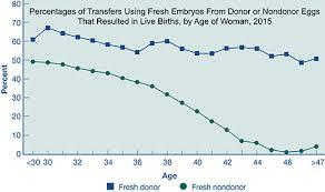 Ivf Chart Age And Ivf In Vitro Fertilization Statistics