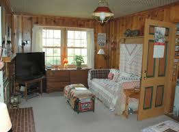 around knotty pine wood paneling