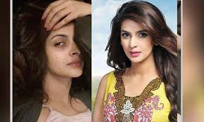 3 mehvish hayat 17 naheed shabir without makeup on bollywood stars makeup and jacqueline fernandez when the make up es off 10 top 13 stani celebrities