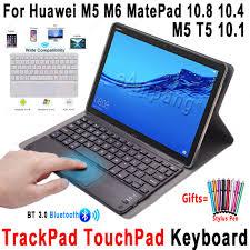 Bao da máy tính bảng nắp lật bảo vệ bàn phím cho Huawei Mediapad M5 lite T5  10.1 M6 10.8 MatePad Pro 10.8 10.4