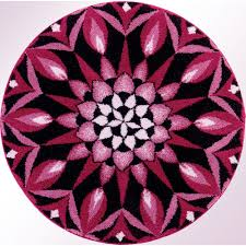 pink and black rug. Spur Of The Moment Round Rug Black Pink And