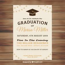 Elegant Graduation Announcements Elegant Graduation Invitation Template Vector Free Download