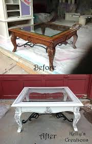 refinishing coffee table com paint glass top outdoor black