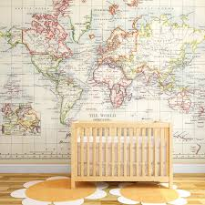 world map decal large 12 kids world map wall decal colorful wall murals map