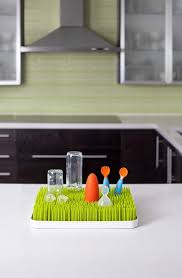 boon lawn countertop drying rack green