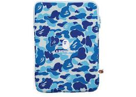 Light Blue Laptop Case Bape Abc Camo Laptop Case Light Blue