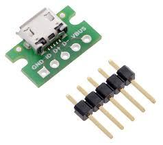 pololu usb micro b connector breakout board usb micro b connector breakout board