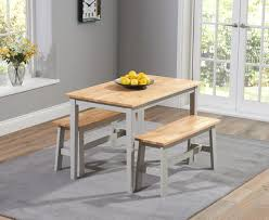 Kitchen Table With Bench Set Dining Table And Bench Sets The Great Furniture Trading Company