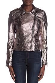 image of blanknyc denim metallic faux leather jacket