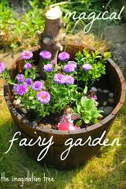 Make a beautiful, magical fairy garden with your child to encourage  imaginative play and story telling!