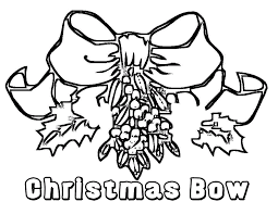 Small Picture Adult christmas bow coloring page Christmas Holly With Bow