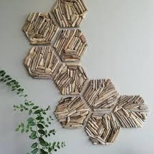 hexagon wall decor geometric wall wood wall tiles 3d wall decora