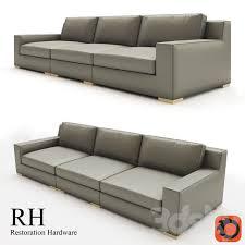 modena track arm modular leather sofa