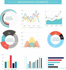 Chart Design Chart Infographic Design Elements Multicolored Flat Shapes