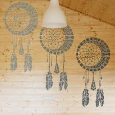Dream Catchers Furniture Delectable Dream Catcher Wall Stencil Kids Room Decor Stencil Dream Catcher