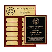 Employee Of The Month Award Employee Of The Month Piano Finish Plaques Package Gem Awards