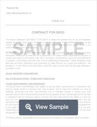 Contract For Deed: Create & Download For Free | Formswift