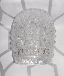 vintage glass lampshade lamp shade textured clear glass 50s 60s retro free post 1 of 4free