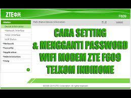Telkom menyediakan jaringan wifi dengan menggunakan perangkat modem sehingga kita bisa. Cara Setting Dan Mengganti Password Modem Zte F609 Telkom Indihome Terbaru 2018 Youtube