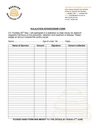 Fillable Online Beehive Wa Edu Walkathon Sponsorship Form