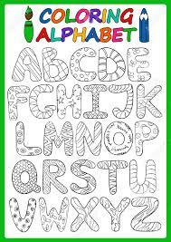 Enfants Alphabet Avec Des Lettres Majuscules De Dessin Anim