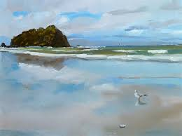 original art for at ugallery com beach reflections by gary bruton 525