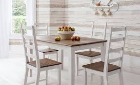 dining table and 4 chairs canterbury white and dark pine noa nani