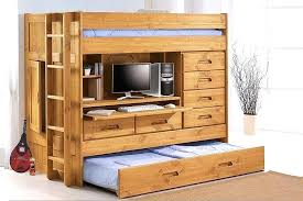 loft bed with trundle image of storage regard to bunk and desk ideas 1
