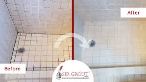 before and after picture of a tile and grout cleaners in ming ga