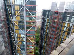 a view of the neo bankside apartments from the tate switch house observation deck photo