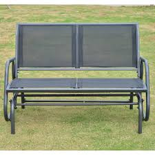 bench bench outsunny patio double glider swing chair rocker heavy dutyr retro benchglider wide cushionsretro