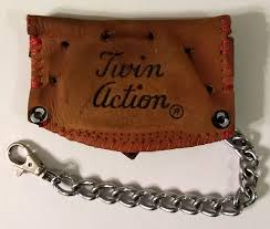 one of a kind wilson baseball glove mini wallet with chain by lucky savage