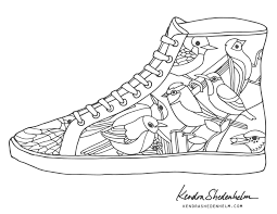 kendra shedenhelm coloring pages shoe justbirds jpg