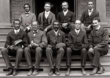 george washington carver  george washington carver front row center poses fellow faculty of tuskegee institute in this c 1902 photograph taken by s benjamin johnston