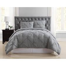 truly soft everyday pleated grey twin xl comforter set cs1969gytx 1500 the home depot