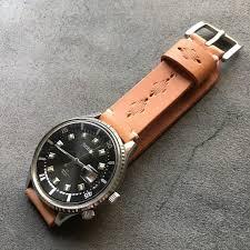 leather watch strap watch band custom made designer kohi youbi handmade leather i