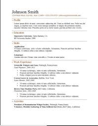 Completely Free Resume Template Custom Free Simple Resume Glamorous Free Clean And Simple Resume Template