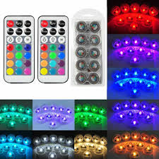 Efx Led Lights 10x Waterproof Remote Control Colored Led Light Boundary Style Efx Accent