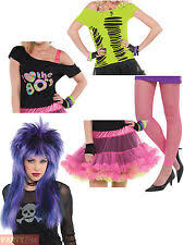 Ladies 80s Costume Accessories Adults Disco Neon Fancy Dress Awesome  Accessory