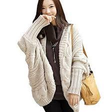 plus size cardigans on sale amazon com partiss women batwing cable knit plus size cardigan