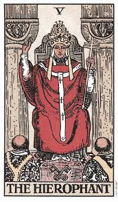 She's a reminder that to know yourself, you must cut out the noise and look inwards. Your Tarot Birth Card Meaning Life Path 5 The Hierophant Numerologist Com
