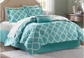 bedroom merritt aqua 9 pc queen comforter set linens blue for teal king plan 14 size