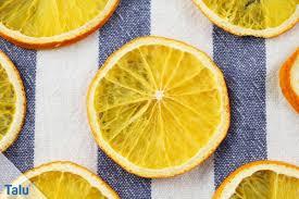 Orangenscheiben Trocknen Getrocknete Orangen Selbst